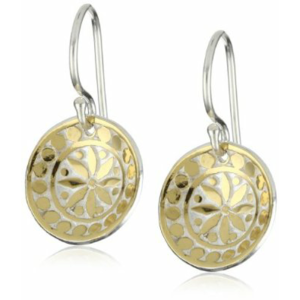 "Anna Beck Designs ""Bali"" 18k Gold-Plated Mosaic Dish Earrings"