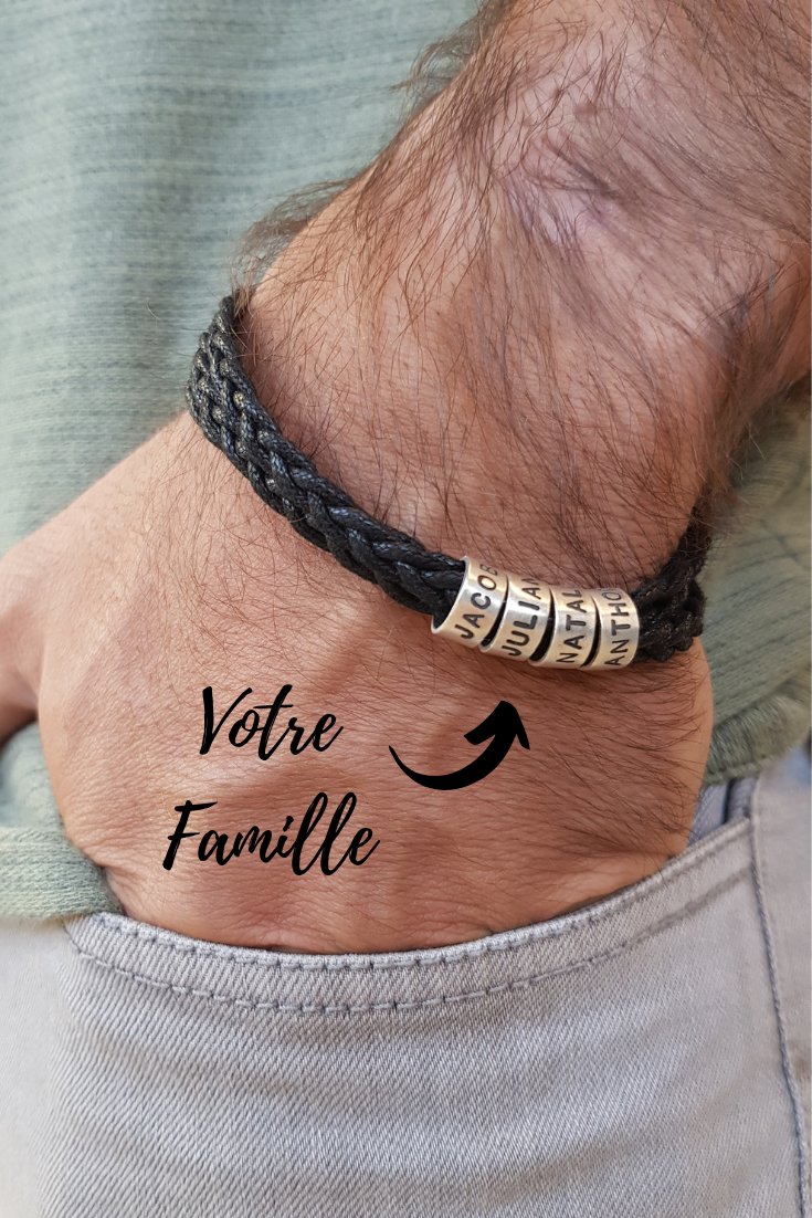 Bracelet Homme Avec Petites Perles Personnalisées En Argent Bracelet Homme Bracelet Homme A Faire Bracelet Personnalisé