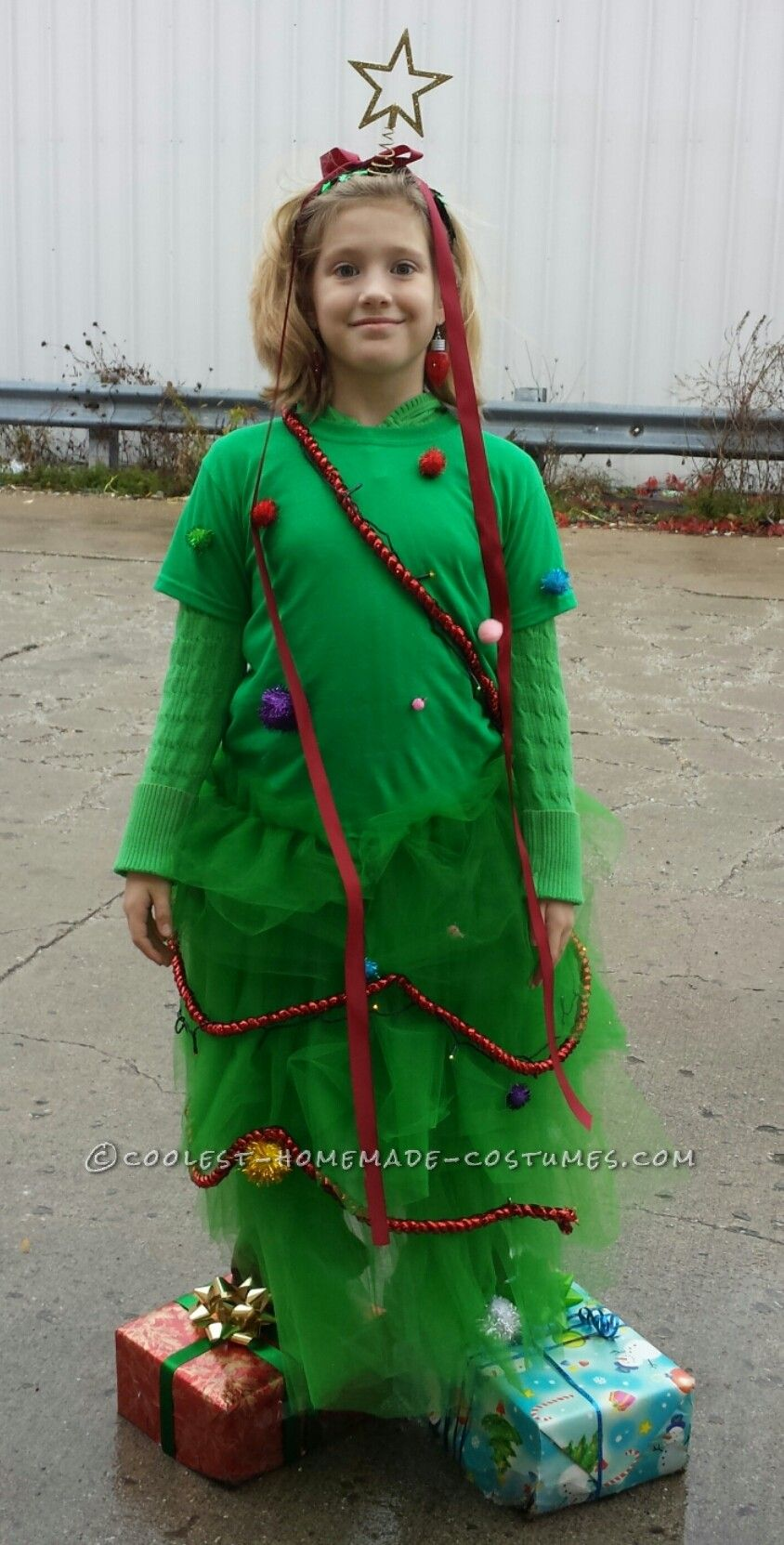 Cool Homemade Christmas Tree Halloween Costume | Homemade ...