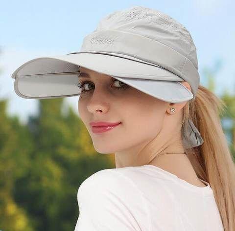Uv Protection Sun Hat Wide Brim For Lady Can Removed Visor Hats Travel Wear Visor Hats Sun Hats Visor