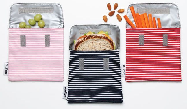 Coolest Lunch Box Accessories Reusable Sandwich Bags By Tiny Me