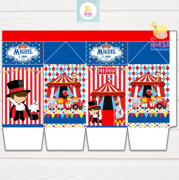 Caixa Milk Desmontada Circo Menino Decoracao Festa Circo Festa