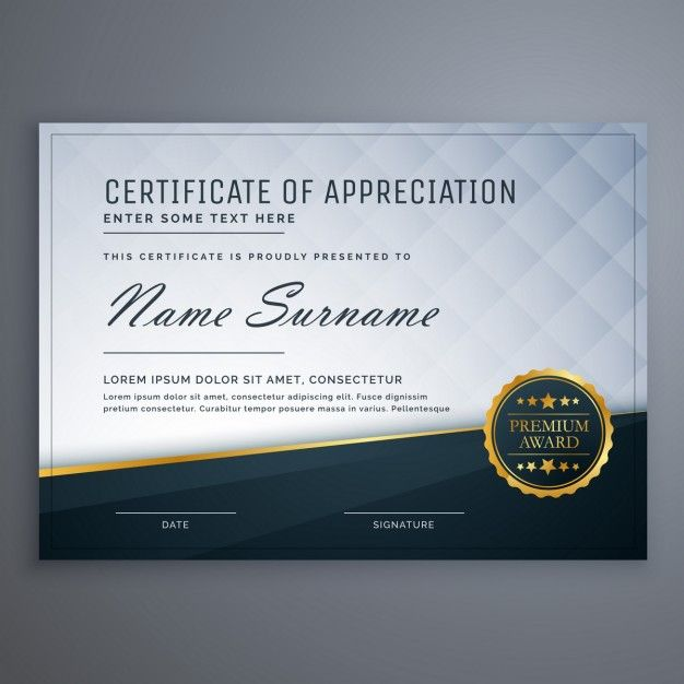Elegant diploma Free Vector Certificate Pinterest - certificate designs free