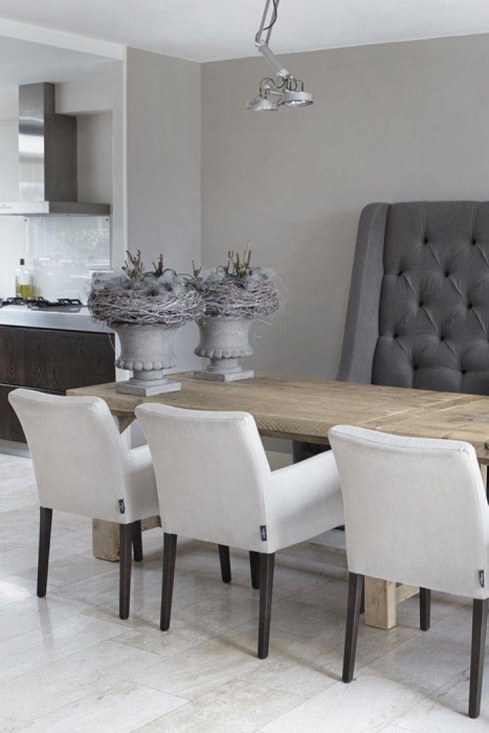 Eettafel en stoelen  Livingroom  Huis interieur Eethoek