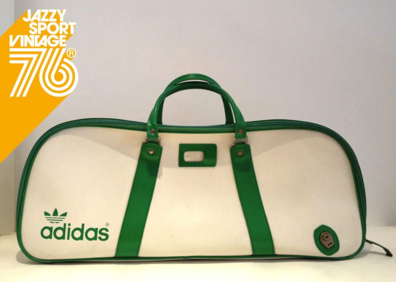 977203ff7e98 Vintage 70 s Adidas Peter Black Holdall Tennis Sports Bag