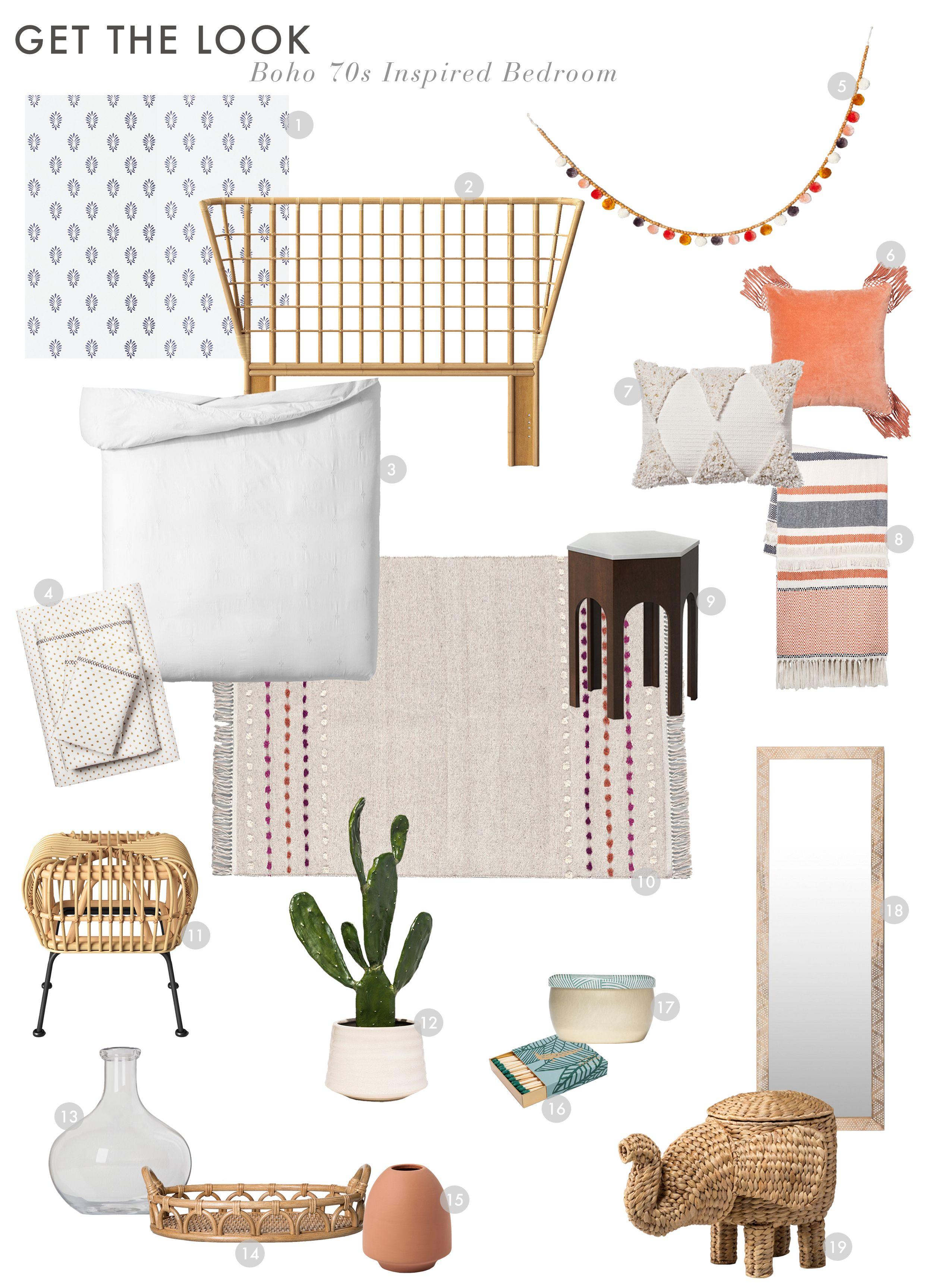 Ein Boho 15er-inspirierte Schlafzimmer mit Opalhouse von Target