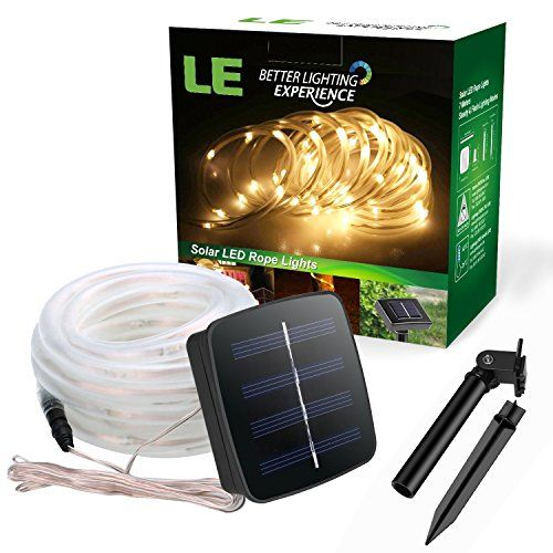 Le 165ft led solar rope lights waterproof 50 leds outdoor rope le 165ft led solar rope lights waterproof 50 leds outdoor rope lights workwithnaturefo