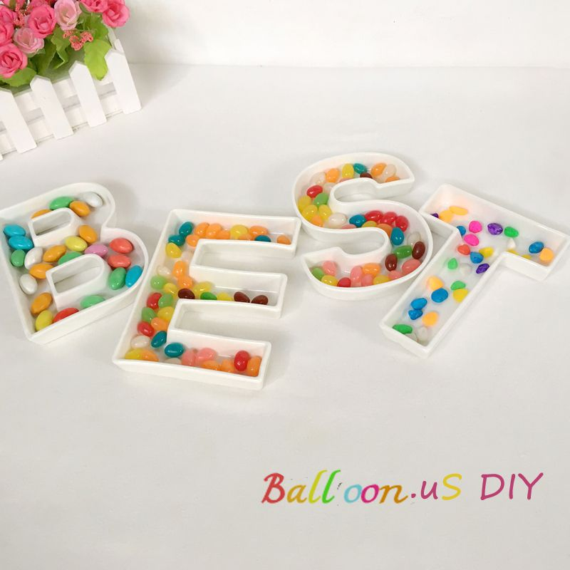 ceramic letters best dishes letter shaped candy dish 6 inch white