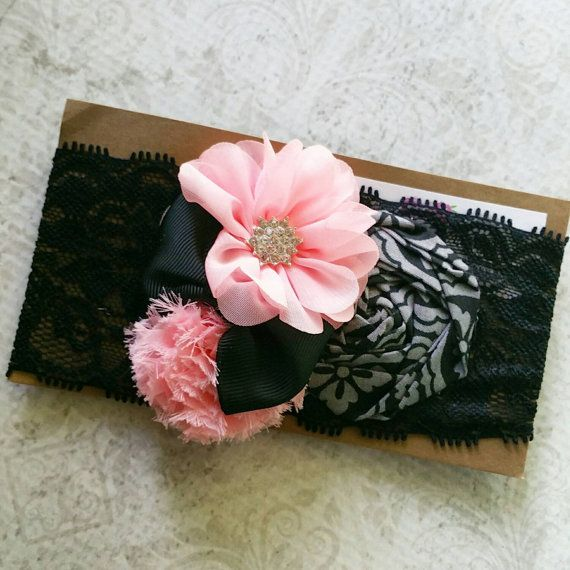 Use code SUMMER50 for 50% OFF your $20 purchase!! Hey, I found this really awesome Etsy listing at https://www.etsy.com/listing/233111664/deluxe-bloom-band-in-black-and-baby-pink