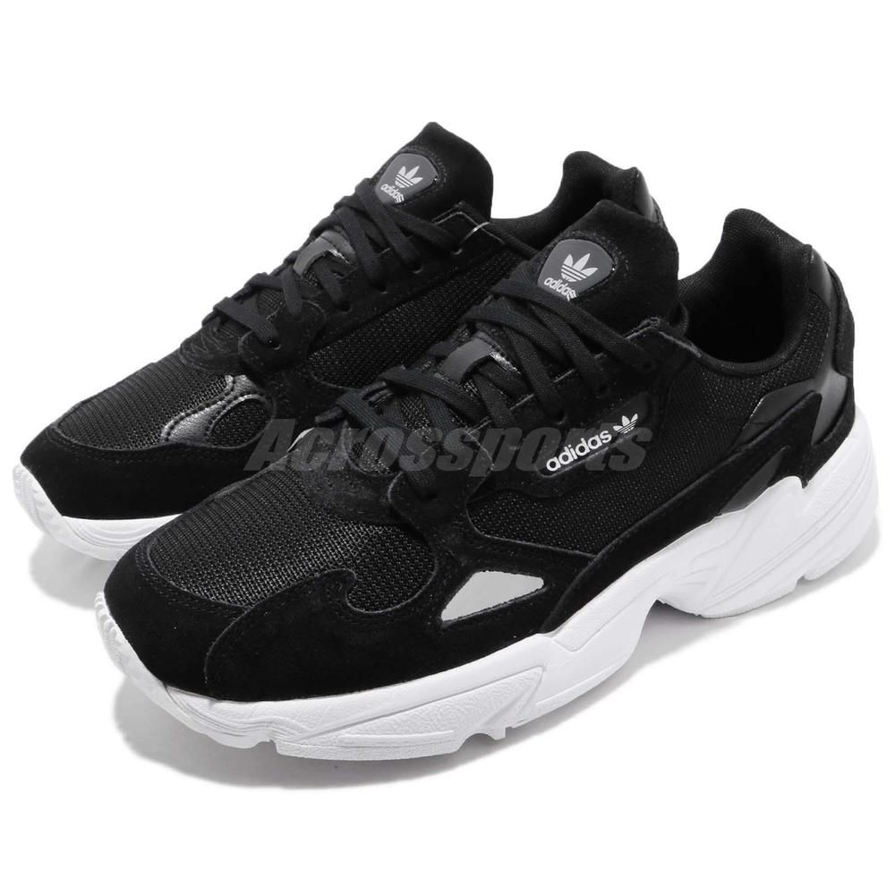 adidas Originals Falcon W Black White Womens Shoes Chunky Sneakers B28129 70e51ff33