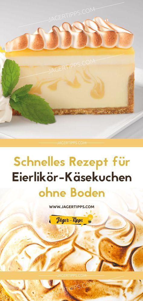 Schnelles Rezept für Eierlikör-Käsekuchen ohne Boden #quickcookies