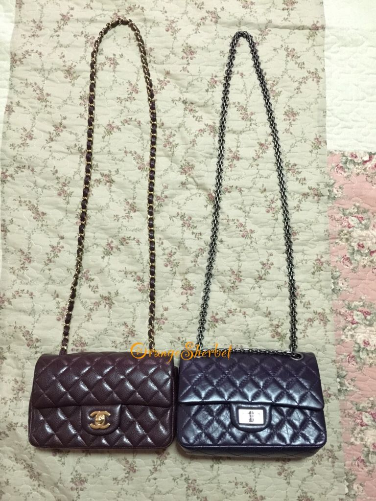 4a2d7e55249b Chanel Mini Classic Flap vs Reissue 224