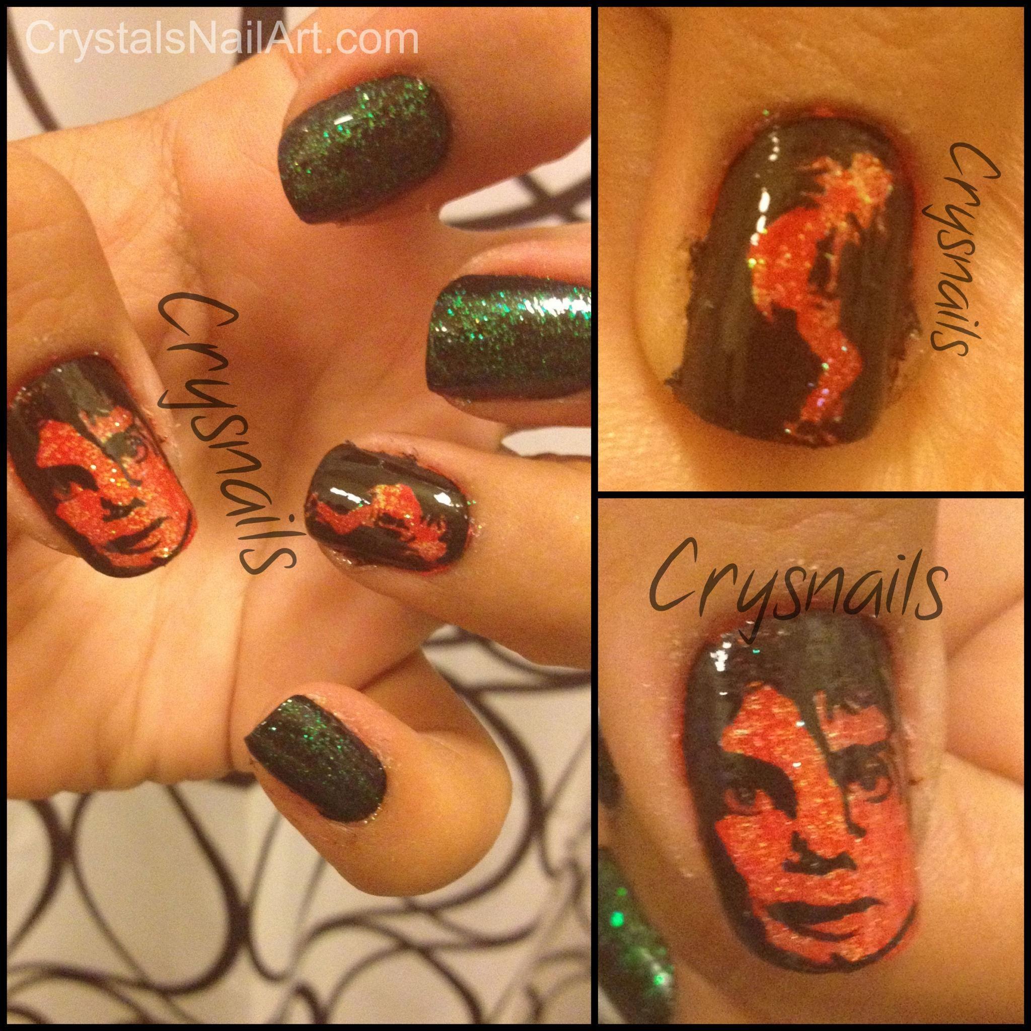 Michael Jackson Nail Art Nagellak Pinterest Nagellak
