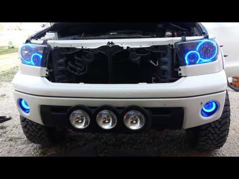 Toyota Tundra Trd 4x4 Led Headlight Halo Rings Youtube Toyota Tundra Trd Toyota Tundra Toyota