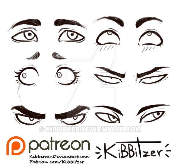 Eyes Reference Sheet 2 By Kibbitzer On Deviantart Drawing
