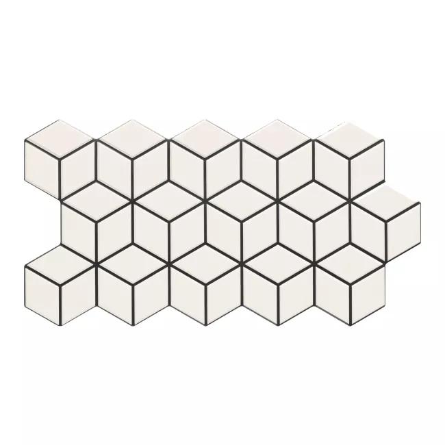 Gres Szkliwiony Rhombus 26 5 X 51 Cm Snow 0 95 M2 Gres Rhombus Rubiks Cube Cube