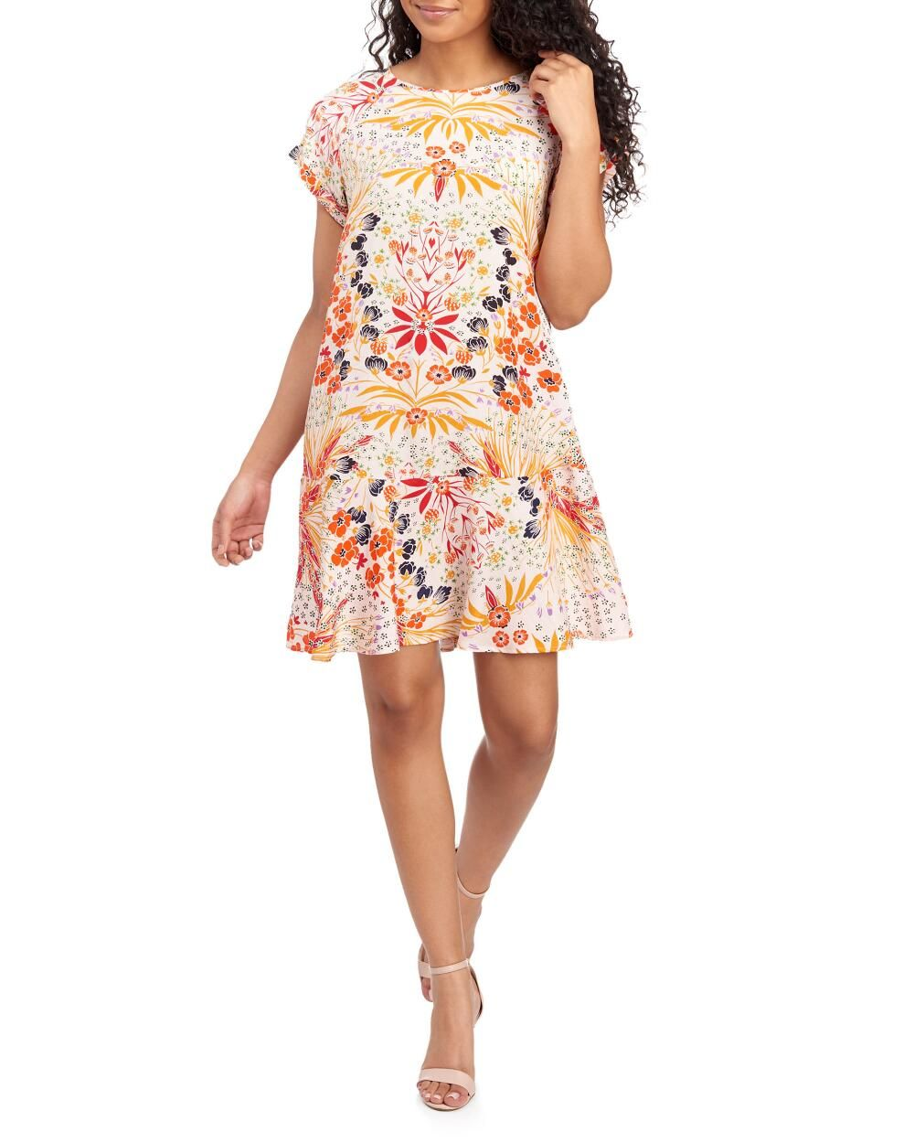 Chelsea Theodore Mirrored Floral Swing Dress Stein Mart Dresses Swing Shirt Dress Swing Dress [ 1250 x 1000 Pixel ]