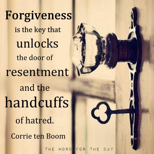 forgiveness is is the first step to unlocking your heart ...
