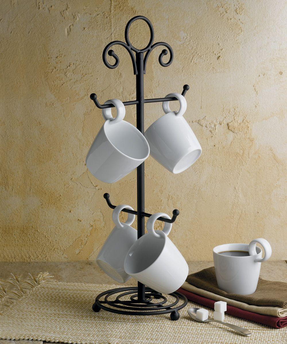 Wrought Iron Mug Rack
