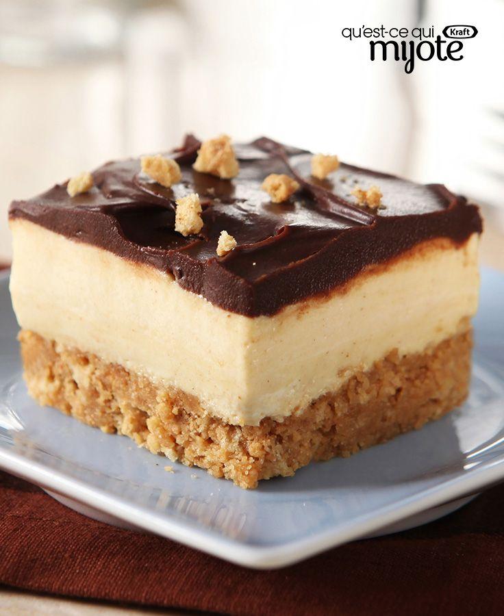 Batonnets Au Chocolat Et Aux Cacahuètes: Carrés Au Beurre D'arachide Et Au Chocolat #recette