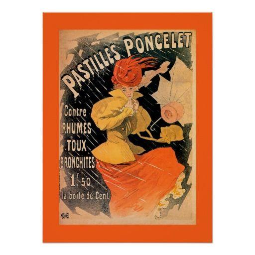 Pastilles Poncelet ~ Jules Cheret 1896 Poster