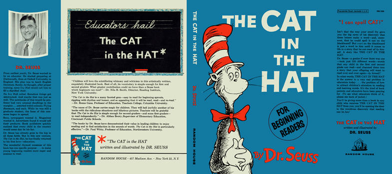 Cat In The Hat The By Seuss Dr On Facsimile Dust Jackets Llc Dollhouse Books Mini Books Miniature Books