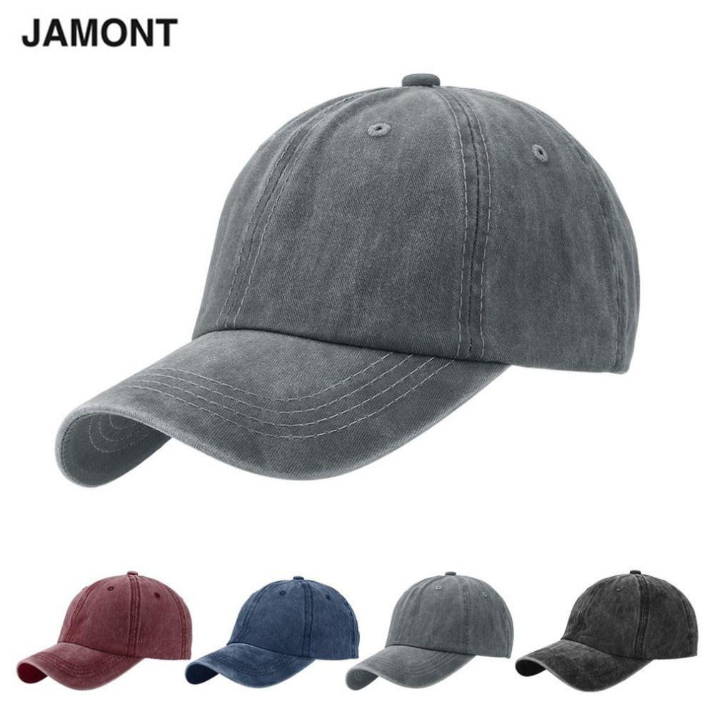 f02bfb235ec JAMONT Brand Denim Unisex Baseball Caps Good Quality Adjustable Polo Hats  2017 Hot Sale Grey Casquette Bone Cap Gorras Wholesale   Price   9.95   gadgets