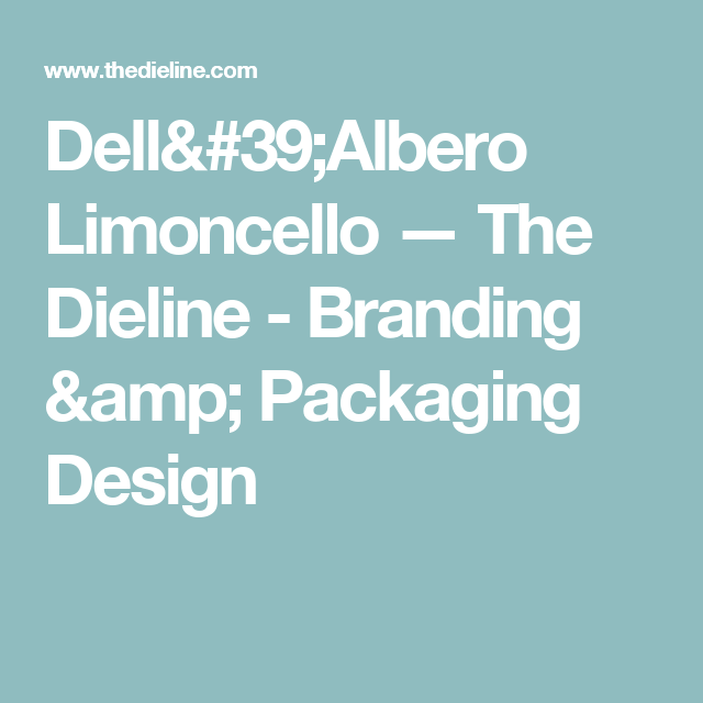 Dell'Albero Limoncello — The Dieline - Branding & Packaging Design