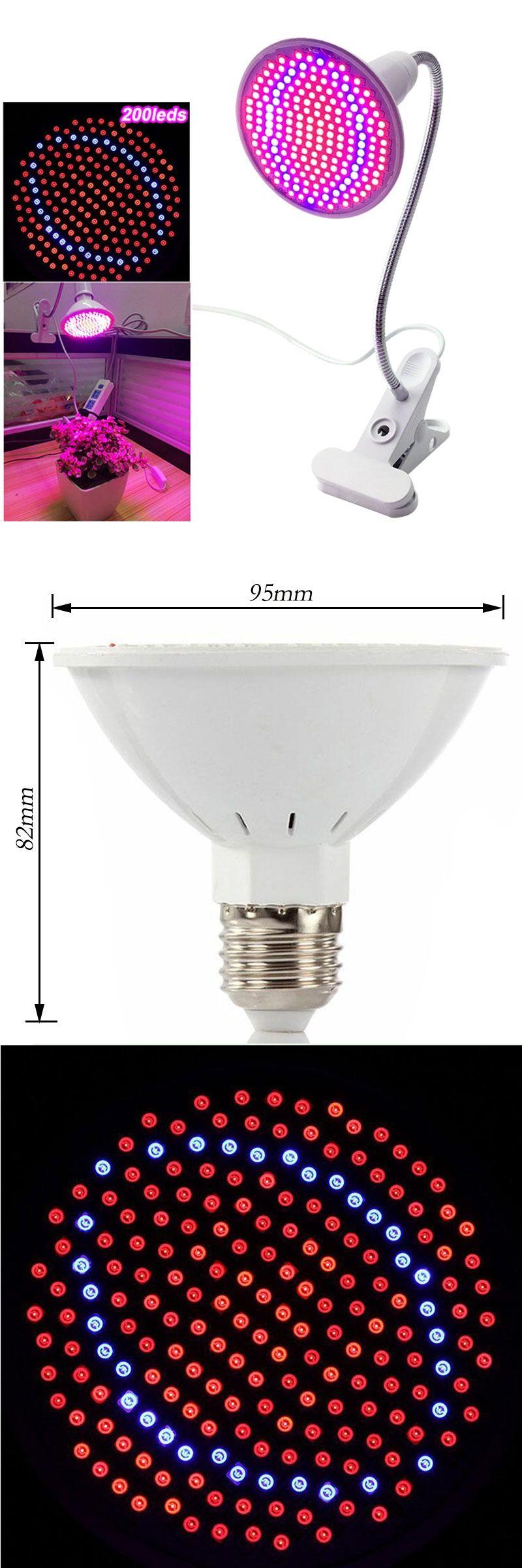 LED Grow Light E27 15W Plant Grow Light 200LED 360 Degrees ...