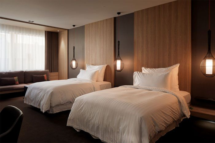Zeitgenossisches Klassisches Hotel Interieur Hotel Room Interior