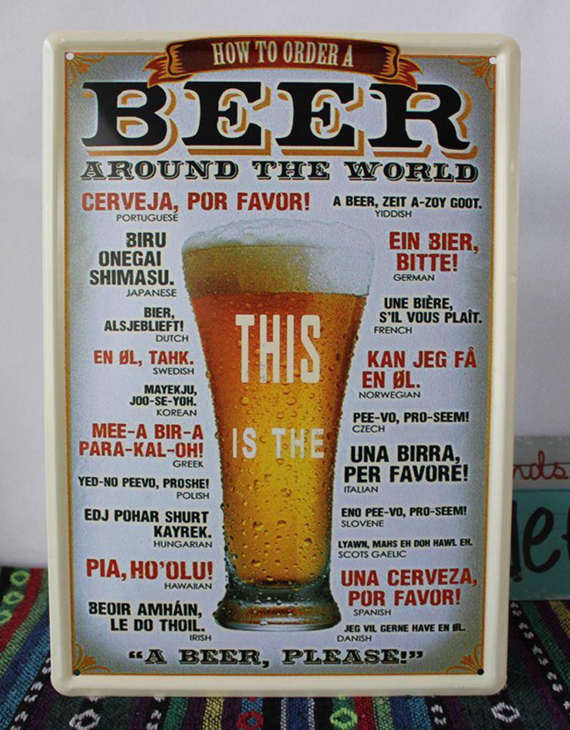 This is the beer! vintage metal sign retro tin signs antique ...