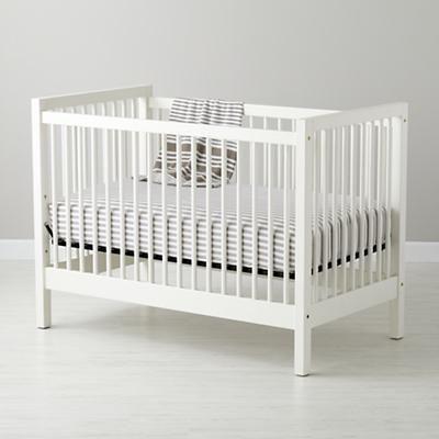 Land Of Nod White Andersen Crib Cribs White Girls Rooms White