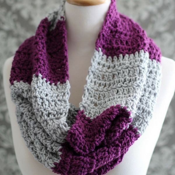 Striped Crochet Cowl Pattern