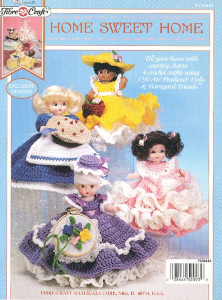 Crocheted Air Freshener Doll Patterns #indianbeddoll