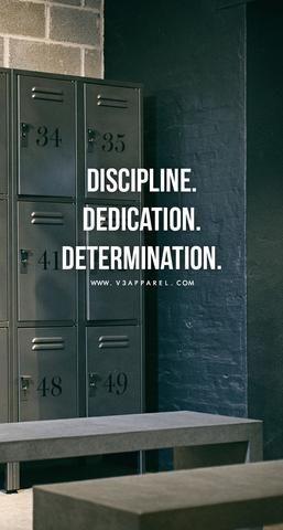 Discipline. Dedication. Determination. #studymotivationquotes #discipline Discip…