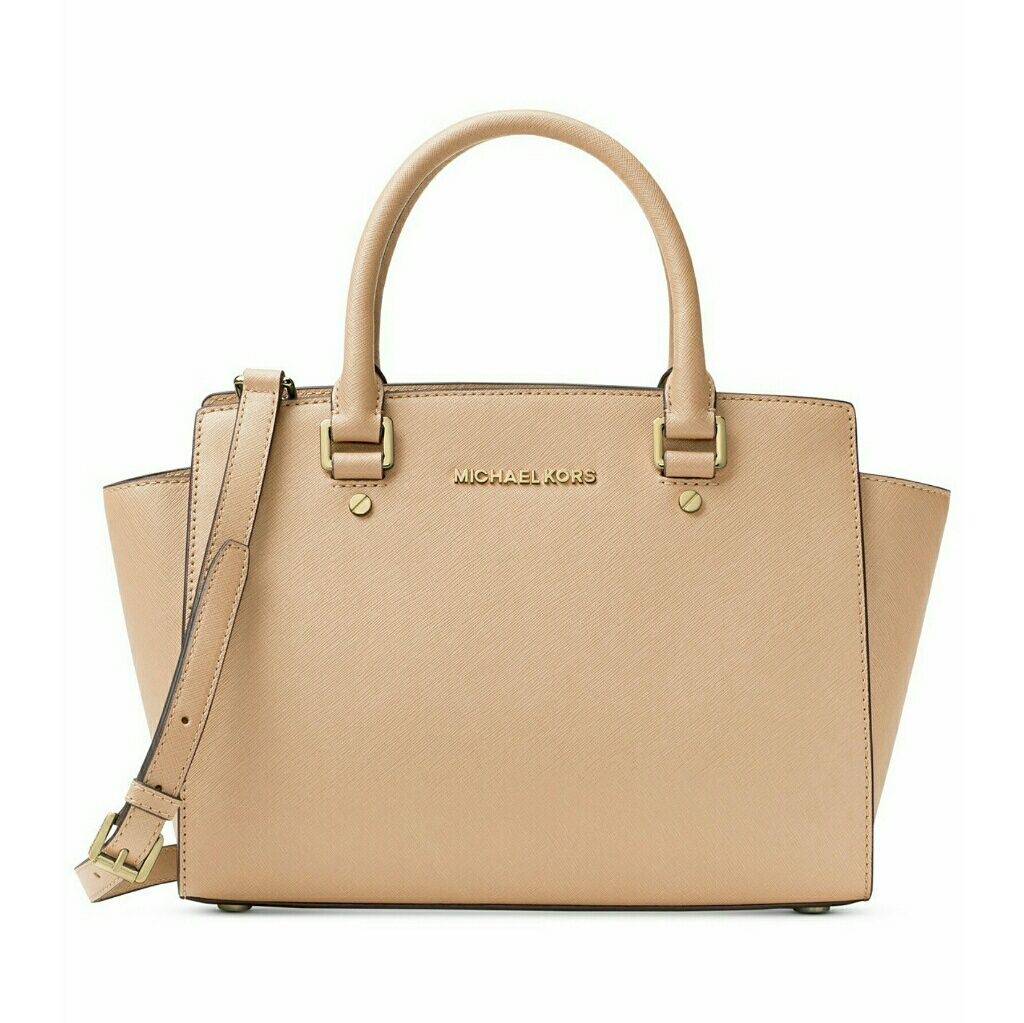 ed5e1a739e38 ... Michael Kors Selma Saffiano Leather Medium Satchel ...