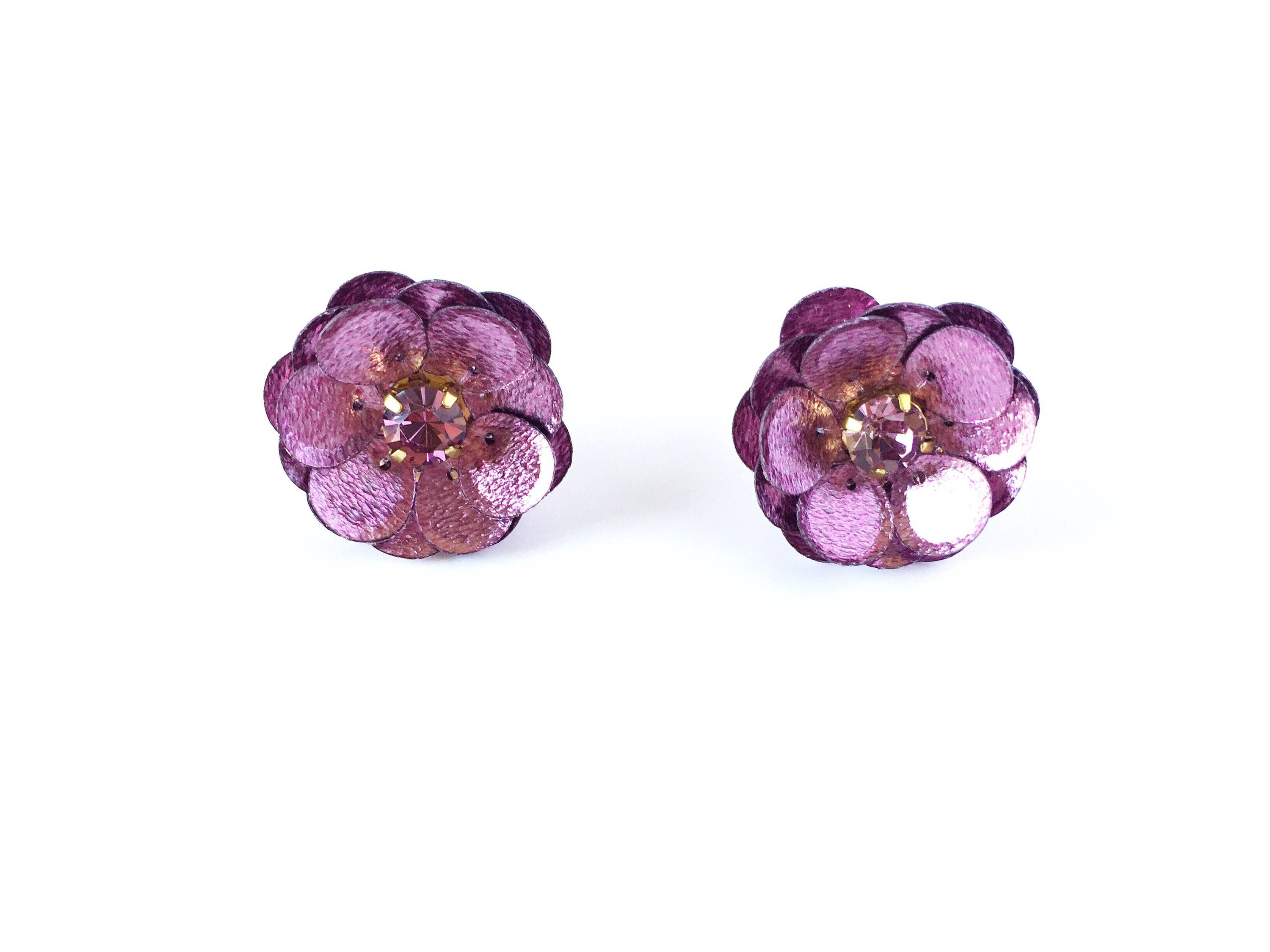 rose barbell set flower earrings products steel purple piercing cartilage surgical tragus earring stud