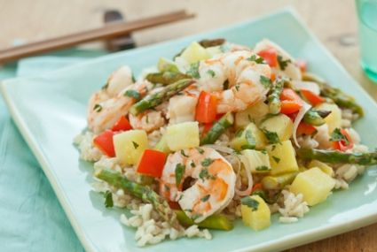 Shrimp and Pineapple over Coconut Rice | Whole Foods Market