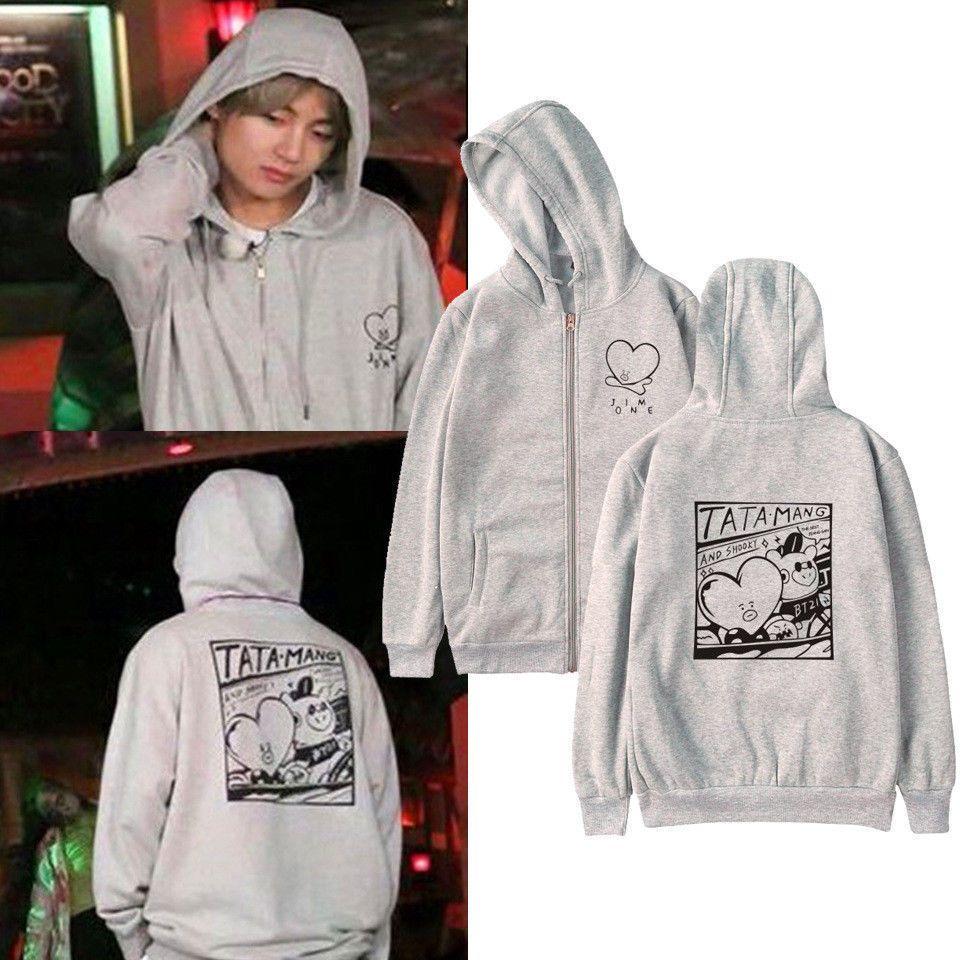 Kpop Bts V Kim Tae Hyung Pullover Hoodie Bt21 Tata Bangtan Boys Sweatershirt Fashion Clothing Shoes Acc Bts Hoodie Women Hoodies Sweatshirts Hoodies Womens