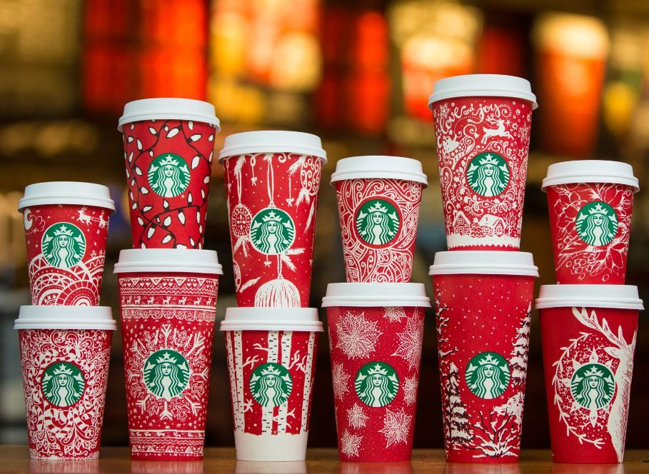 Starbucks Unveils 2016 Holiday Red Cups Holiday cups