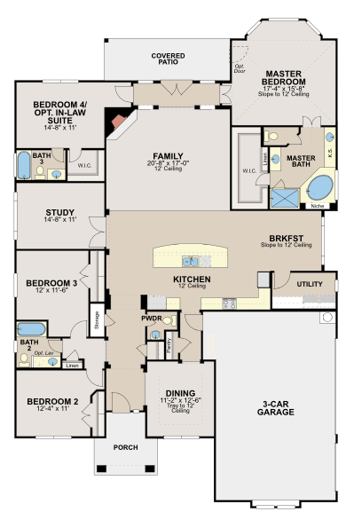 Ryland Homes Floor Plans One Story Carpet Vidalondon