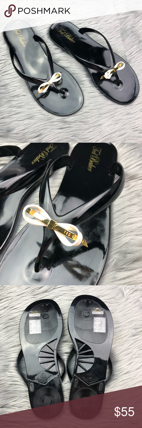 d339c77010c195 Ted Baker Heebei Black Jelly Flip Flop Sandals •Ted Baker Heebei Black  Jelly Flip Flop Sandals •Women s Size US 8 (UK 6) •In excellent preowned  condition ...