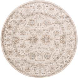 Photo of benuta Teppich rund Velvet Cream ø 240 cm rund – Vintage Teppich im Used-Look benuta
