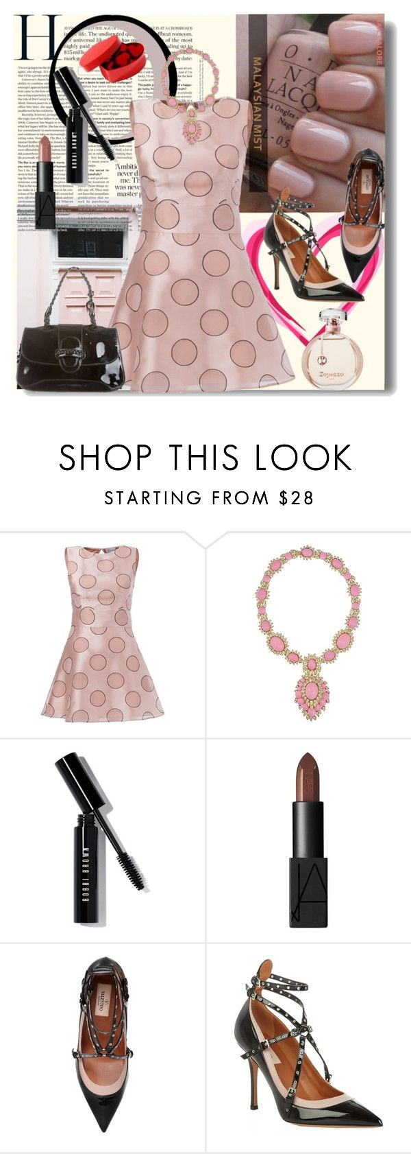 """HAPPY PINK VALENTINE'S DAY"" by whitewolf ❤ liked on Polyvore featuring RED Valentino, Ciner, Bobbi Brown Cosmetics, NARS Cosmetics and Valentino"