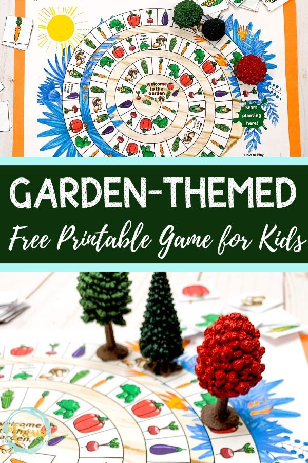 Garden Board Game Free Printable Printables for Kids