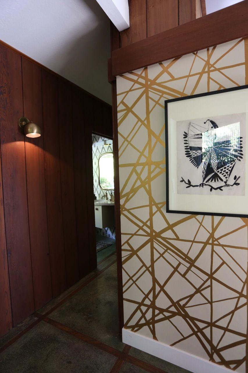 Kelly Wearstler Channels Wallpaper in Copper/Beige (Cocoon ...