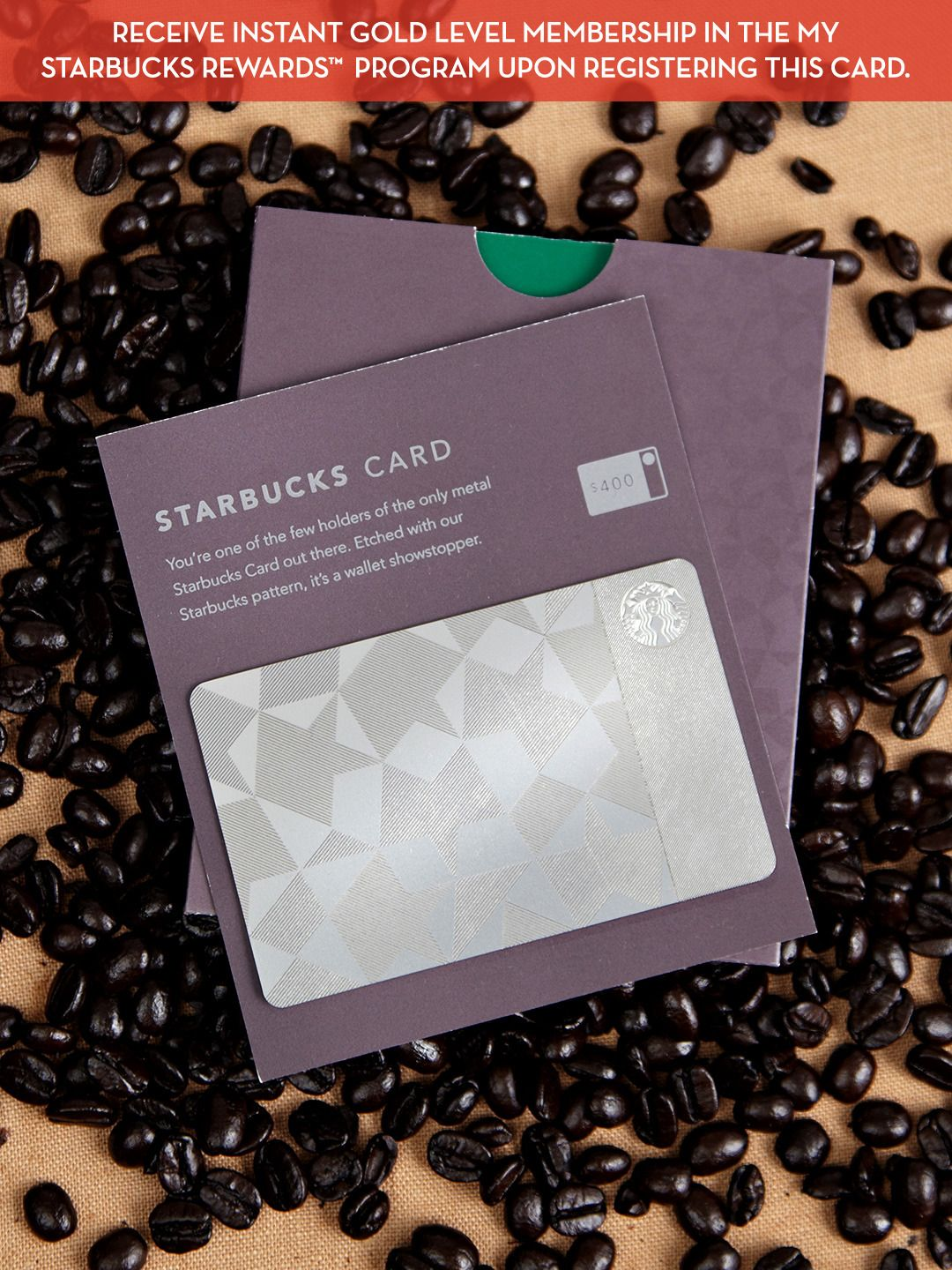 Limited Edition Metal Starbucks Card with Gold Level Membership ...