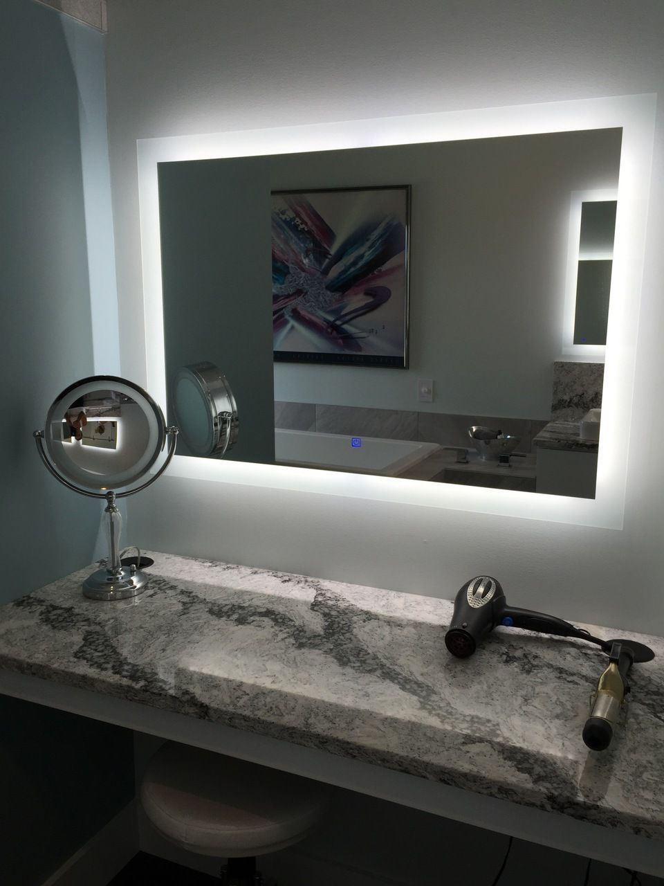 Led Exquisite Illuminated Mirror Home Finishes Diy Vanity Mirror