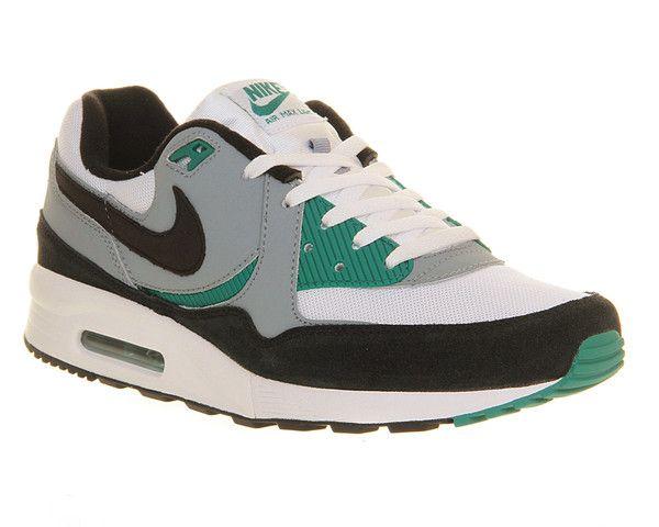 size 40 cb0d2 7560e Mens Nike AIR MAX LIGHT ESSENTIAL WHITE BLACK MYSTIC GREEN Trainers