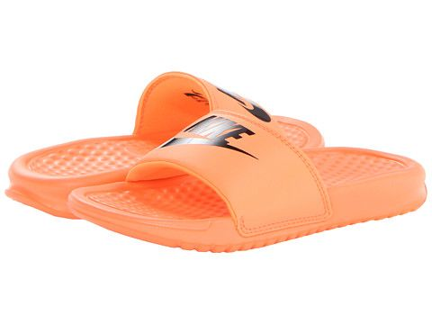8577ccfd58549 Nike Kids Benassi JDI (Little Kid Big Kid) Atomic Orange Black Black -  Zappos.com Free Shipping BOTH Ways